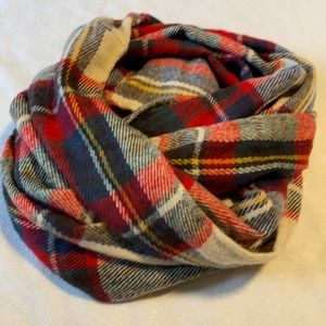 Call it spring plaid infinity scarf